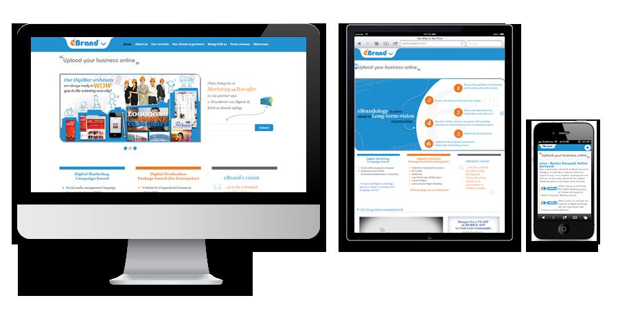 eBrand, responsive website
